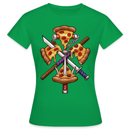 Ninja Pizza - Women's T-Shirt