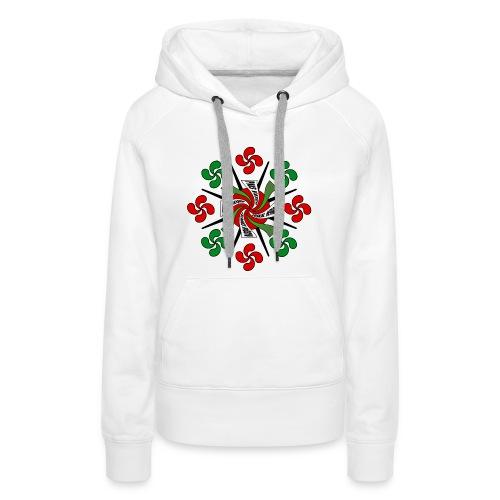 Croix Basques - Sweat-shirt à capuche Premium pour femmes