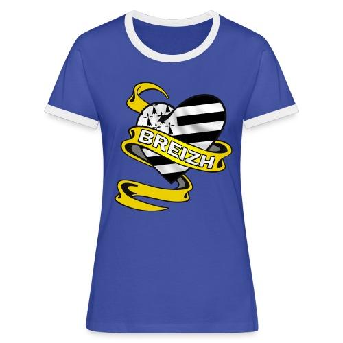 Coeur Breton - T-shirt contrasté Femme