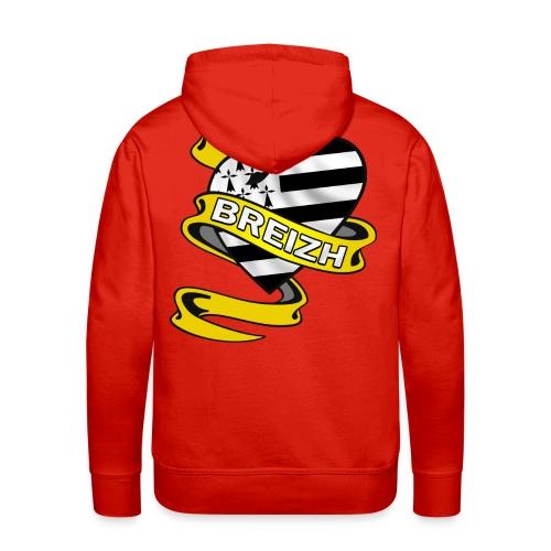 Coeur Breton - Sweat-shirt à capuche Premium pour hommes