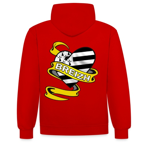 Coeur Breton - Sweat-shirt contraste