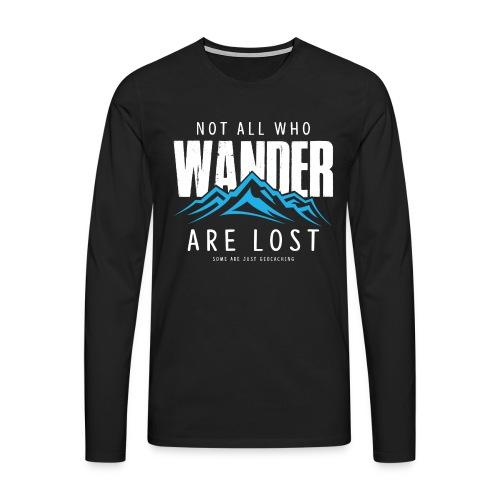 Who Wander (Male) - Mannen Premium shirt met lange mouwen