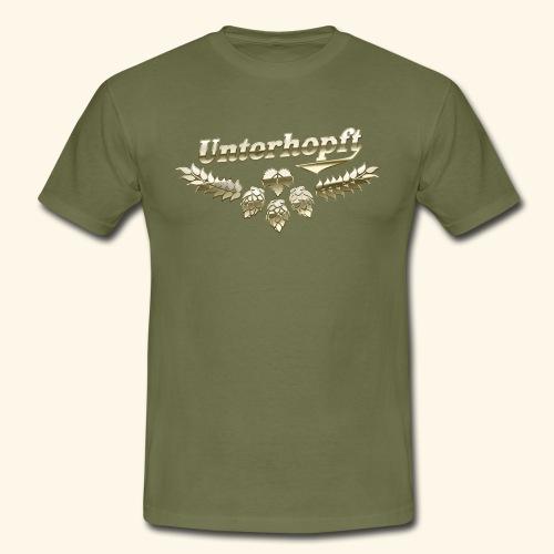Unterhopft T-Shirts lustiger Spruch für Biertrinker - Männer T-Shirt