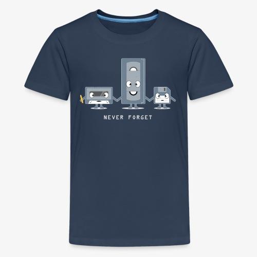 Never Forget VHS, Floppy, Kassette - Teenager Premium T-Shirt