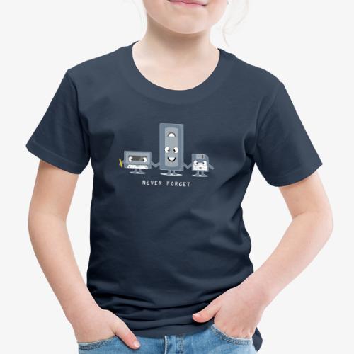 Never Forget VHS, Floppy, Kassette - Kinder Premium T-Shirt