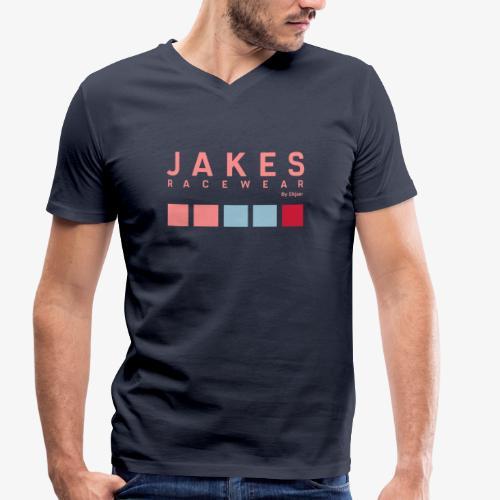 JAKES COLOR - Økologisk Stanley & Stella T-shirt med V-udskæring til herrer