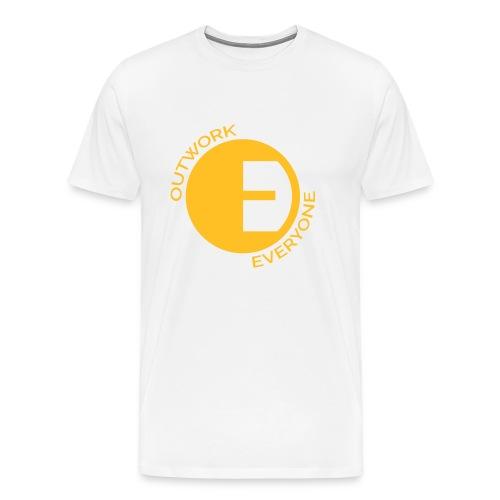 Outwork Everyone Circular Logo - Men's Premium T-Shirt
