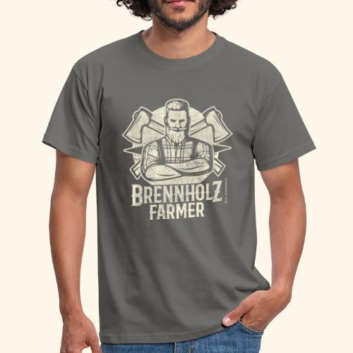 Holzfäller Sprüche-T-Shirt Brennholzfarmer - Geschenkidee - Männer T-Shirt