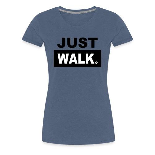 Dames Premium T-Shirt in Heather Blauw - Vrouwen Premium T-shirt