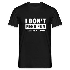 D's Alcohol Black - Mannen T-shirt
