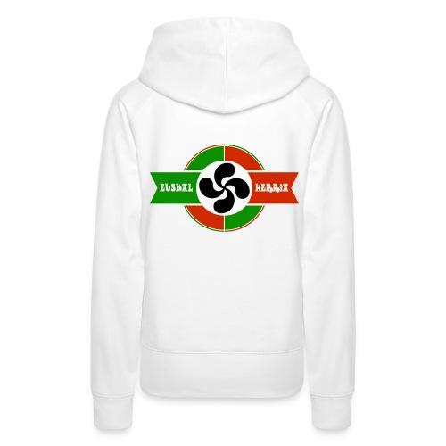 Croix du pays Basque - Sweat-shirt à capuche Premium pour femmes