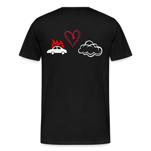 Palo Auto Pilveen - Miesten premium t-paita