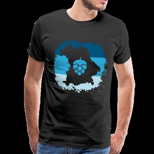 Hopfen Grunge Bayern Landkarte - Männer Premium T-Shirt
