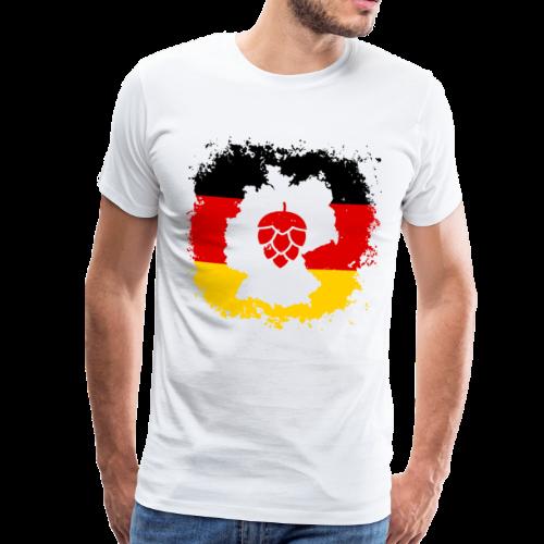 Hopfen Grunge Deutschland Landkarte - Männer Premium T-Shirt