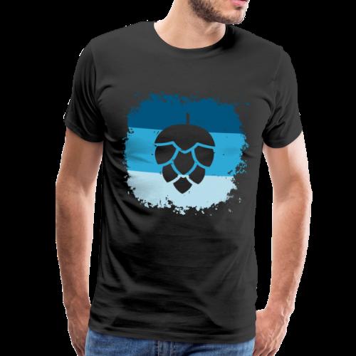 Hopfen Grunge Bayern Flagge - Männer Premium T-Shirt