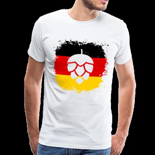 Hopfen Grunge Deutschland Flagge - Männer Premium T-Shirt