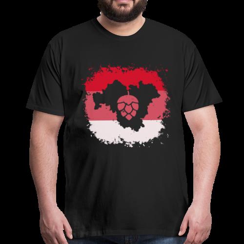 Hopfen Grunge Franken Landkarte - Männer Premium T-Shirt