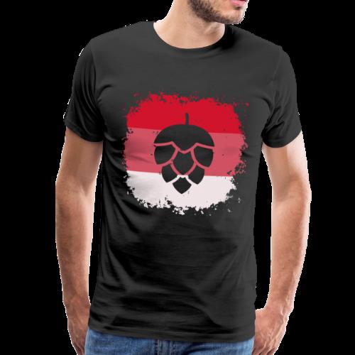 Hopfen Grunge Franken Flagge - Männer Premium T-Shirt