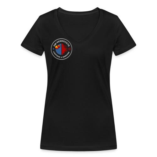 Frauen T-Shirt Logo vorne & hinten - Frauen Bio-T-Shirt mit V-Ausschnitt von Stanley & Stella