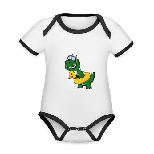 T-Rex - Body Bébé bio contrasté manches courtes
