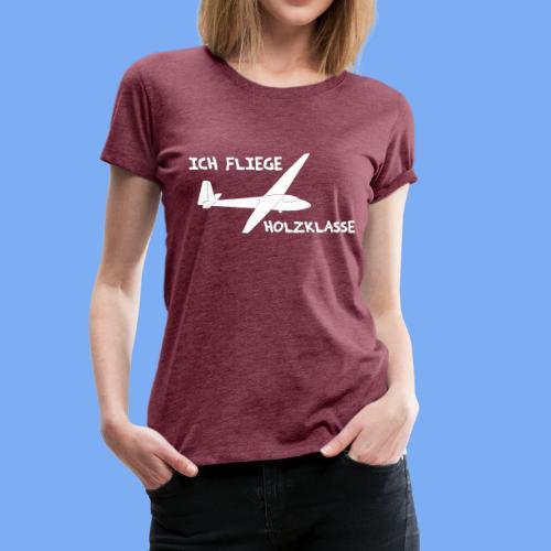 Grunau Baby lustiges Geschenk für Segelflieger Segelfliegen Segelflugzeug - Women's Premium T-Shirt