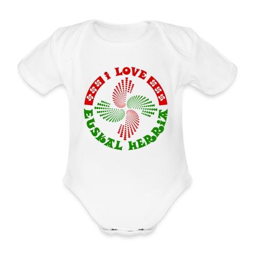 I love Euskal Herria - Body bébé bio manches courtes