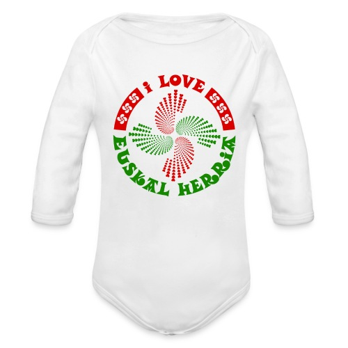 I love Euskal Herria - Body bébé bio manches longues