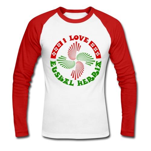 I love Euskal Herria - T-shirt baseball manches longues Homme