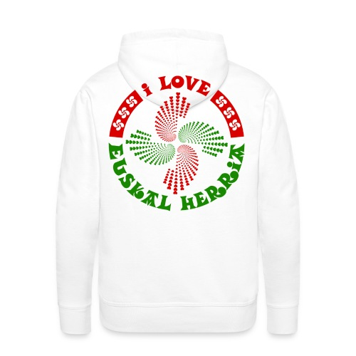 I love Euskal Herria - Sweat-shirt à capuche Premium pour hommes