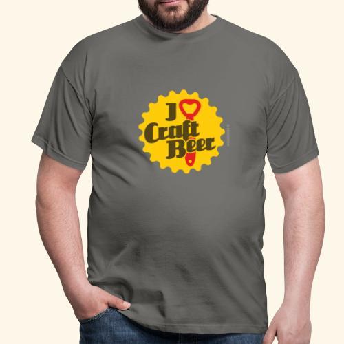 Craft Beer T-Shirt Design I Love Craft Beer - Männer T-Shirt