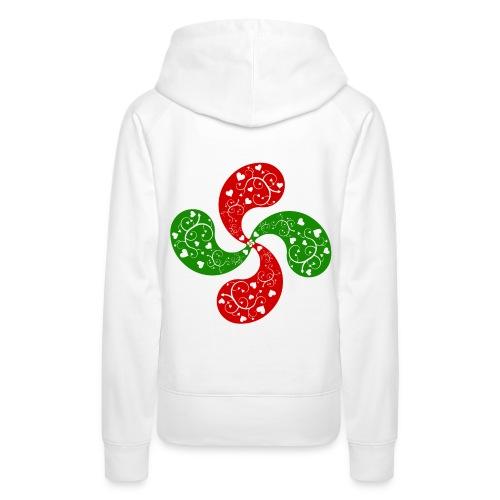 Basque hearts cross - Sweat-shirt à capuche Premium pour femmes