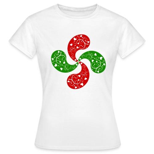 Basque hearts cross - T-shirt Femme