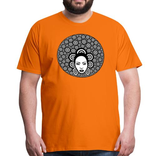 Afro hair woman - Men's Premium T-Shirt