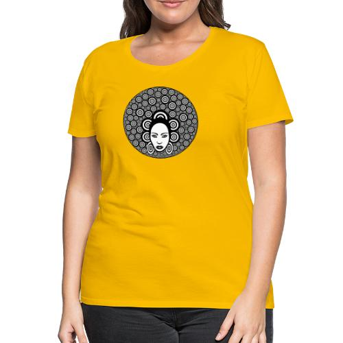 Afro hair woman - Women's Premium T-Shirt