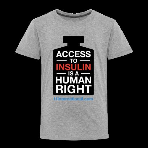 Kid's Access to Insulin T-Shirt light grey - Kids' Premium T-Shirt