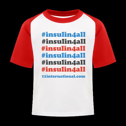 Kid's insulin4all Baseball T-Shirt - Kids' Baseball T-Shirt