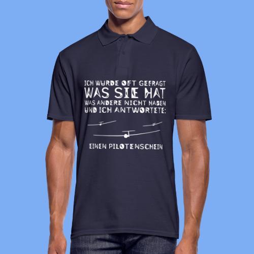 Lustiger Spruch Geschenk für Segelflieger Flieschen - Men's Polo Shirt