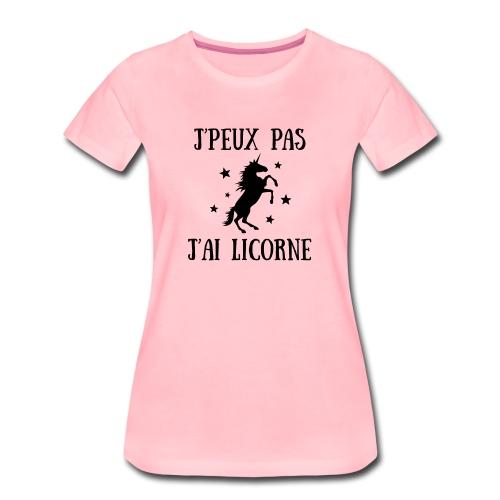 Licorne E - T-shirt Premium Femme