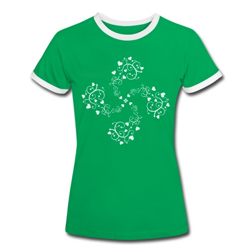 Basque hearts cross - T-shirt contrasté Femme