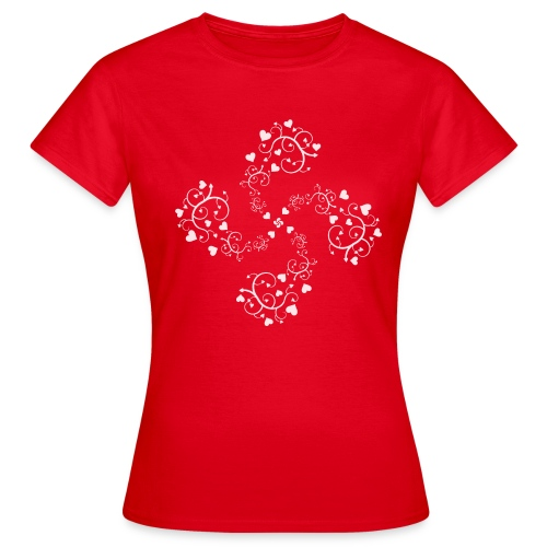 Basque hearts cross - T-shirt Femme