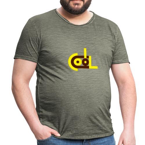 cool abstrakt Wort typo gelb - Männer Vintage T-Shirt