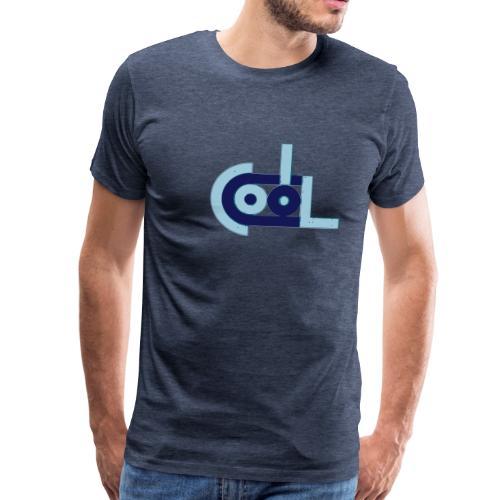 cool abstrakt Wort typo blau - Männer Premium T-Shirt
