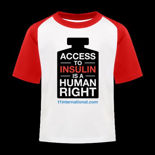 Kid's Access to Insulin Baseball T-Shirt - Kids' Baseball T-Shirt