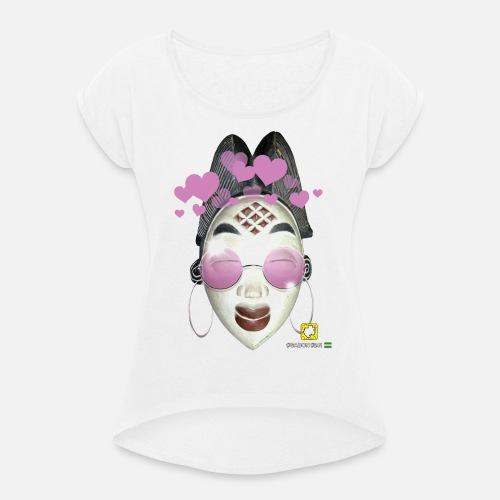 Masque Gabon Femme | DAF - T-shirt à manches retroussées Femme