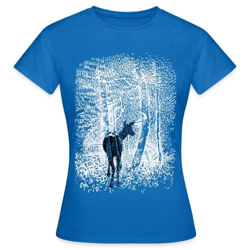 Wald Reh weß Umkehrbild - Frauen T-Shirt