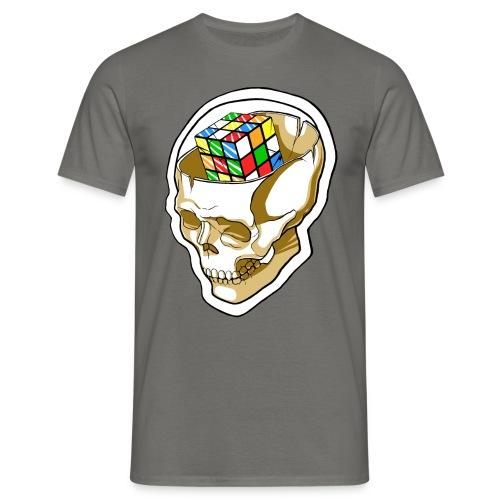 Kaizo Minds Rubix Cube Skull (Grey) - Men's T-Shirt
