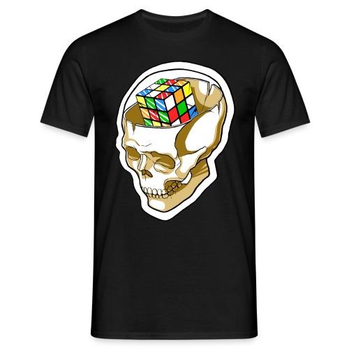 Kaizo Minds Rubix Cube Skull (Black) - Men's T-Shirt