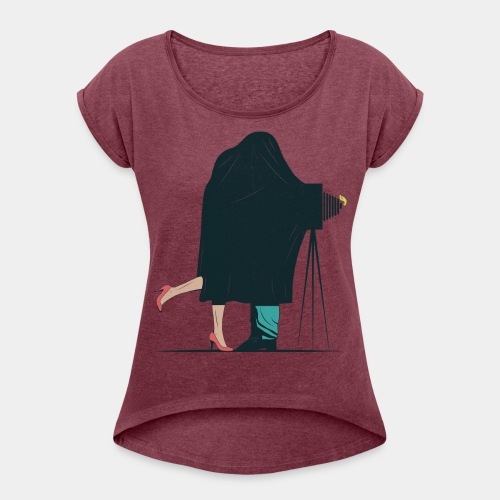 KEEEES Girly - Women's T-Shirt with rolled up sleeves