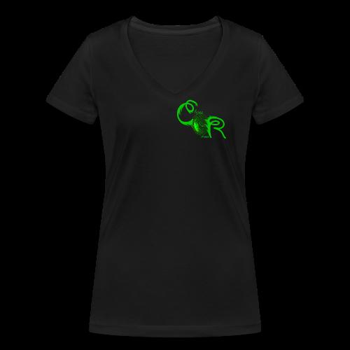 Frauen T-Shirt ChaosRoom Logo grün klein - Frauen Bio-T-Shirt mit V-Ausschnitt von Stanley & Stella