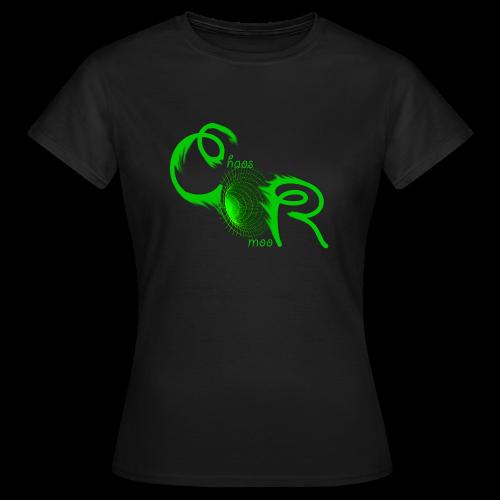 Frauen T-Shirt ChaosRoom Logo grün 2 groß - Frauen T-Shirt